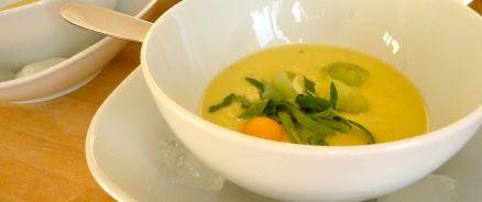 Geeiste Melonensuppe